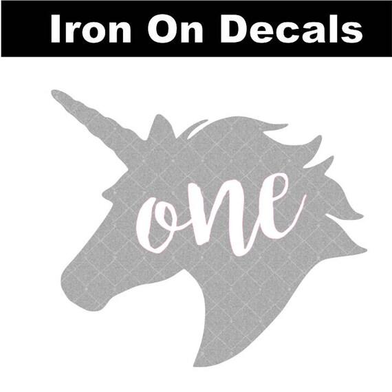 Unicorn One Birthday Decal Iron On Unicorn Decal Birthday