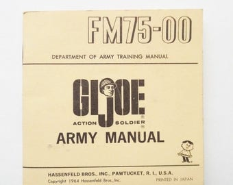 ON SALE Vintage 1964 12-inch Hasbro GI Joe Fm75-00 Army  Manual Printed in Japan