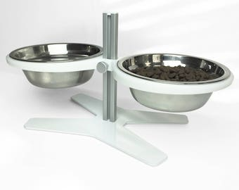 Ergonomic Modern Pet Feeder for Dogs and Cats