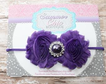 Purple Headband, Baby Headband, Infant Headband, Newborn Headband, Purple Baby Headband, Purple Infant Headband,