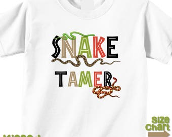 Snake Tamer Snakes Nature Ourdoor Explore Birthday Party Shirt Nature Walks Snake Zoo Party Shirt Infant Kids Adult Snake Shirt