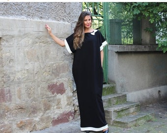 SALE ON 20 % OFF Black Caftan dress, Maxi dress, Caftan, Party dress, Elegant dress, Oversized dress