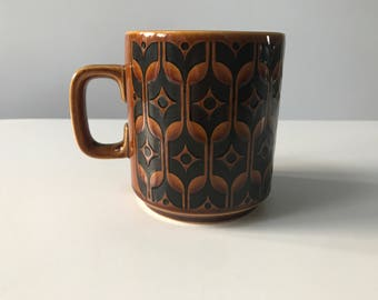 Vintage 1970s Hornsea Pottery John Clappison Heirloom Brown Mug