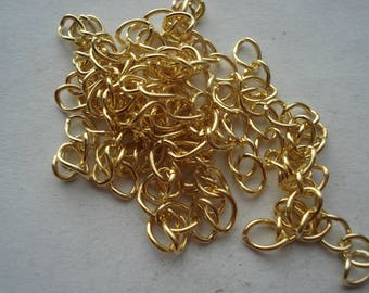 50mm Alloy Extender Chain For Jewellery Necklaces and Bracelets, Pack of 100 Gold Plated Extender Chains, C412