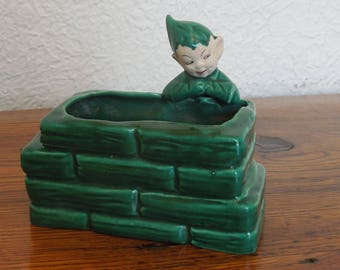 Vintage Pixie Elf Planter Gilner 1950's California