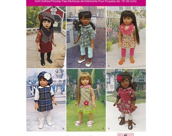 """Simplicity Pattern 1089 Doll Clothes for 18"""" Doll"""