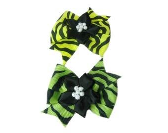 Animal Print Bows, Toddler Hair Bows, Baby Hair Bows, Kids Hair Clip, Toddler Hair Clips