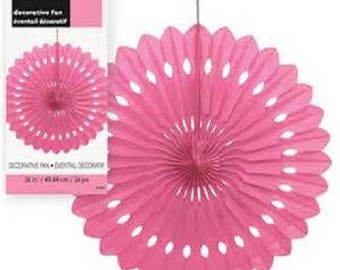 Hanging fan 360 paper rosette pink 40cm