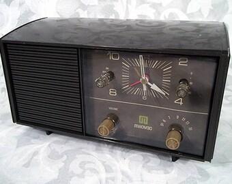 Vintage MILOVAC Clock AM Radio TR-525