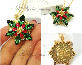 NEW COLOR Anastasia Together In Paris Necklace - Anastasia cosplay - Once Upon a Dicember - Romanov - flower - ERINITE green