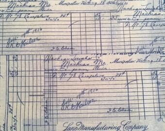 Antique Receipt in Blue from StudioE