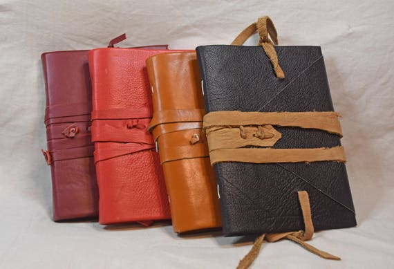 6x8 inch journal or sketchbook - handbound leather