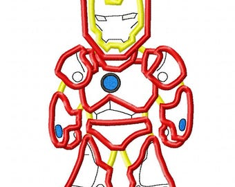 Super Hero Custom embroidered IronMan Inspired Birthday Shirt 78