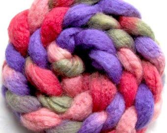 BFL/Tussah Silk Combed Top Hand Painted