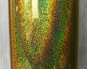 Gold Holographic Glitter Adhesive Vinyl, 651 equivalent, oracal, vinyl, sticky vinyl, glitter adhesive vinyl, vinyl for crafts