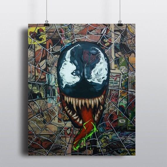 Venom Acrylic Painting