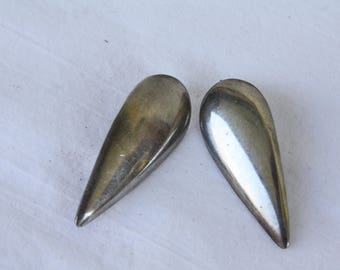 Vintage Sterling Earrings / Mexican Silver Earrings / Tear Drop Earrings / Sterling Silver Earrings / Vintage Sterling Teardrop Earrings