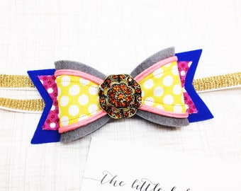 Felt Bow | Headband or Clip | M2M Made to Match Matilda Jane The Adventure Begins Patio Party Ellie, Marco Polo Bubble