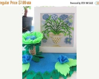 25% OFF SALE By the Bay Needleart A Little Blue for You Counted Cross Stitch Pattern