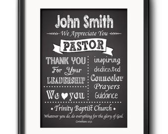 Pastor Gift Pastor Appreciation Wall Decor Minister Gift Personalized Pastor Gift Religious Art Christian Wall Decor Pastor Gift Spanish