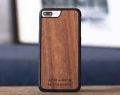 GPS Coordinates Gift, Wood iPhone 7 / 7 Plus Case, Men's Gift, Personalized Wood iPhone Case - MONO-GPS