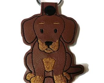 Doxie Key Fob Key Chain, dog mom gift, dog dad gift, fur mom, dachshund lover gift