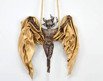 Metal art sculpture, Aerial silks, Acrobat sculpture, Gymnastics sculpture, interior design, Christmas gift