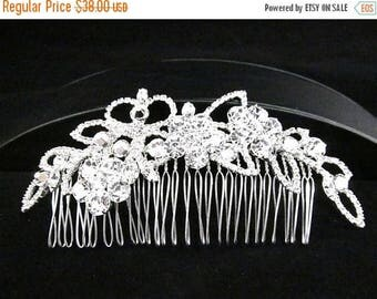SALE SALE Rhinestone Bridal Hair Comb, Bridal Rhinestone Hair Accessory, Kite Shaped Evening Hair Comb