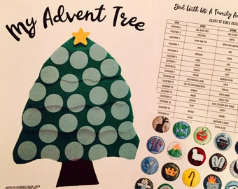 Advent Jesse Tree Sticker Chart