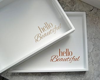 Personalized Gift for Her, Breakfast Tray Table, Valentines Day Gift Ideas for Her, Girlfriend Gift, Coffee Table Tray