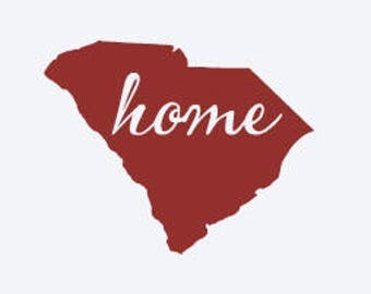 "State ""HOME"" decal, approximately 4"" - ALL STATES available - Car Decal - Home - South Carolina - Kentucky - Texas - Alabama"