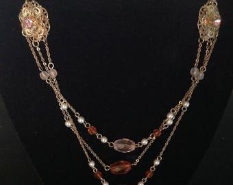 Vintage AVON MULTI CHAIN Necklace