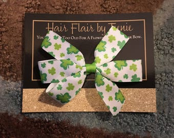St. Patrick's Day Shamrock Bow