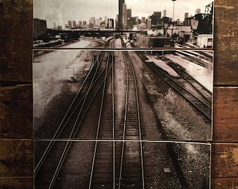 Chicago Sears/Willis Tower photograph on reclaimed wood.