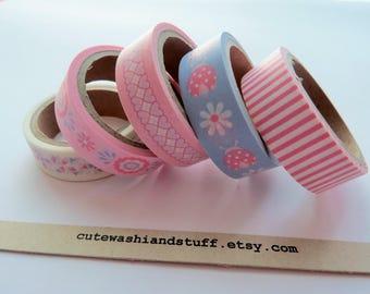 Masking Tape Washi Tape Set Baby Girl - 5x5 mt