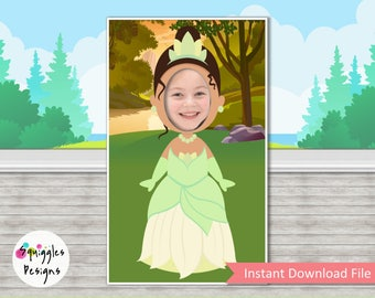 Tiana Princess And The Frog Photo Booth Prop - Digital Files