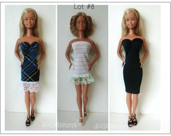 SUPERSIZE 18 in  BARBIE Doll Clothes - Dress Trio #8 Lot of 3 Dresses - by dolls4emma
