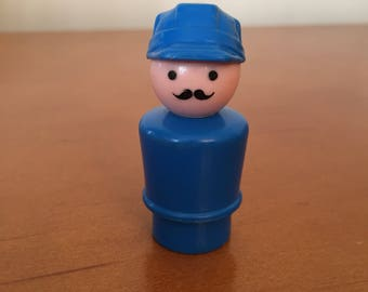 Vintage Fisher-Price Little People Engineer for Offshore Cargo Base