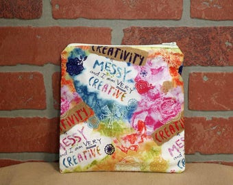 One Sandwich Bag, Reusable Lunch Bags, Waste-Free Lunch, Machine Washable, Creativity Is Messy, Sandwich Sacks, item #SS89