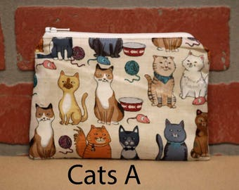 One Snack Sack, Cats, Reusable Lunch Bags, Waste-Free Lunch, Machine Washable, Back to School, School Lunch, item #SS56