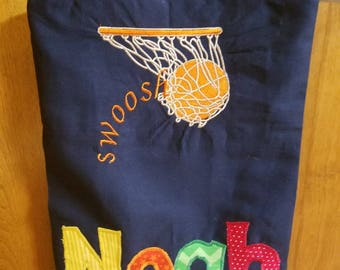 Basketball Tote, Basketball Camp Tote, Sports Tote, Medium Personalized Kids Tote Bag, Boy Tote Bag,,Tote Bag for Kids, Boy Birthday Present