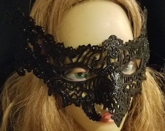 3D Printed Filigree Vampire Mask - Vampire Masquerade Costume Mask