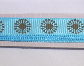 Ribbon Rayher turquoise and Brown 90cm flower creating jewelry, scrapbooking
