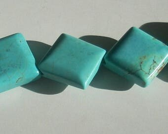 Turquoise square howlite 12mmx5