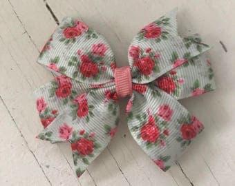 "3"" Floral Pinwheel Bow"