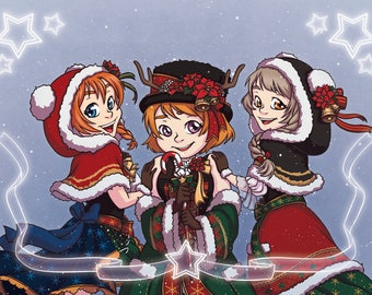 Love Live - School Idol Festival 'Printemps' Christmas Digital Fan Art Print