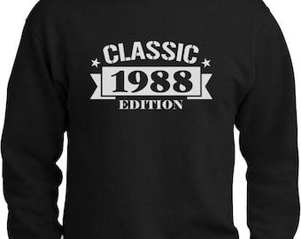 Classic 1988 Edition Funny 30th Birthday Sweatshirt