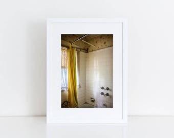 Retro Bathroom - Urban Exploration - Fine Art Photography Print