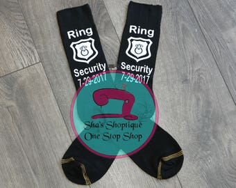 Ring Security Socks  Ring Bearer Socks