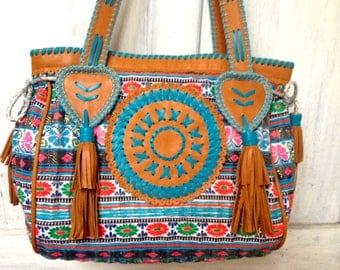 Susan Vintage Bag- Leather-Bags-Handmade Textl -